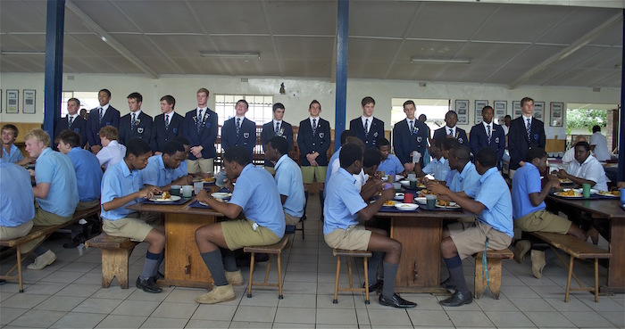 INITIATION OF THE 2013 COLLEGE PREFECTS IN THE DINING HALL