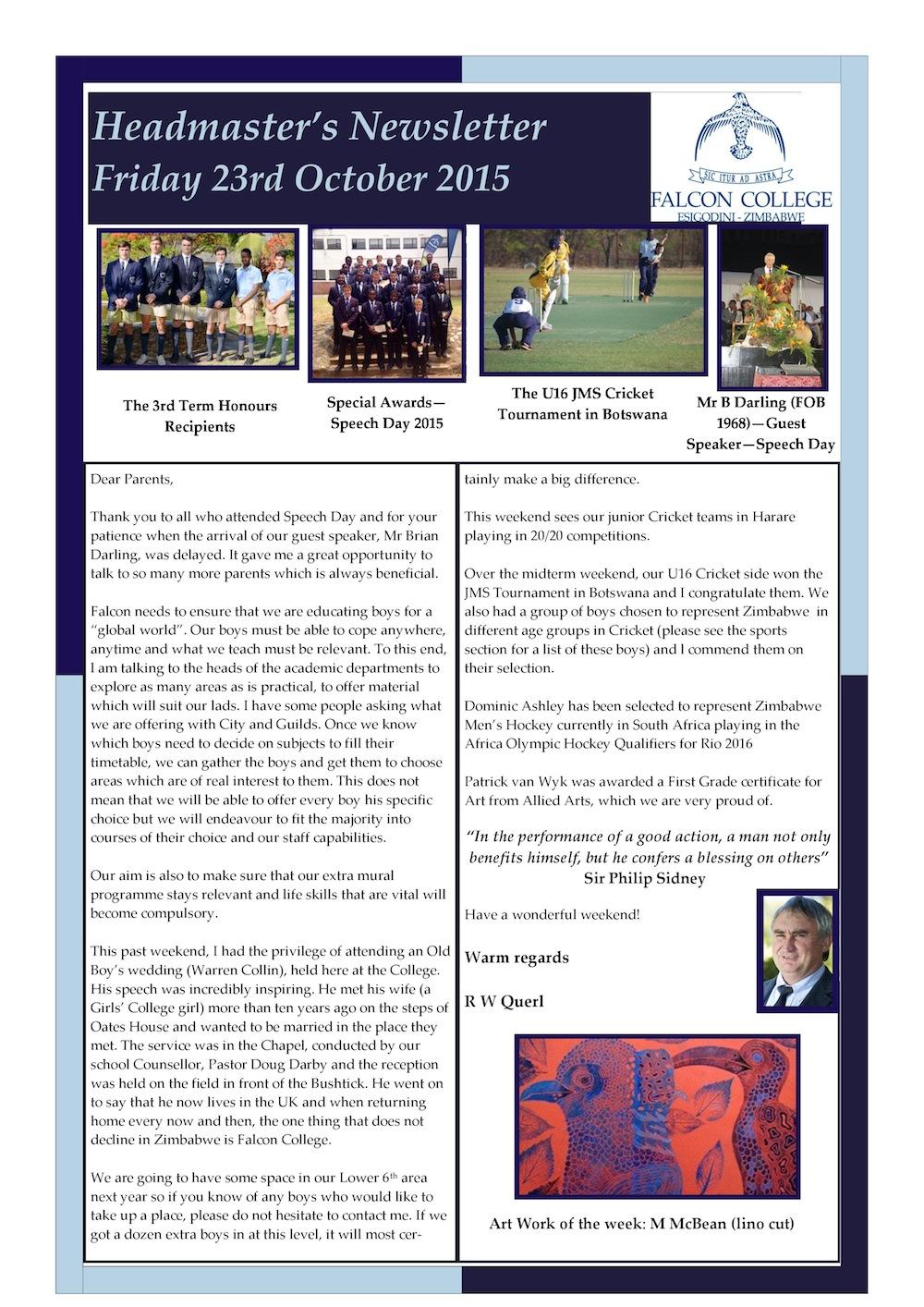 Headmaster's Newsletter Friday 23rd October 2015 edited-page-0
