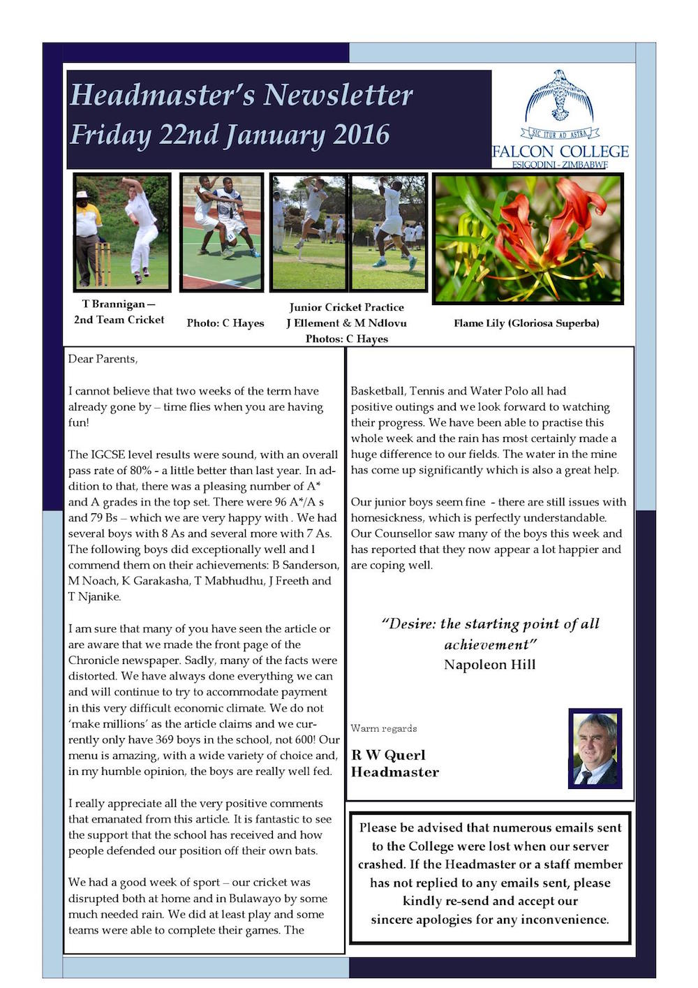 Headmaster's Newsletter Friday 22nd January 2016 edited_000001
