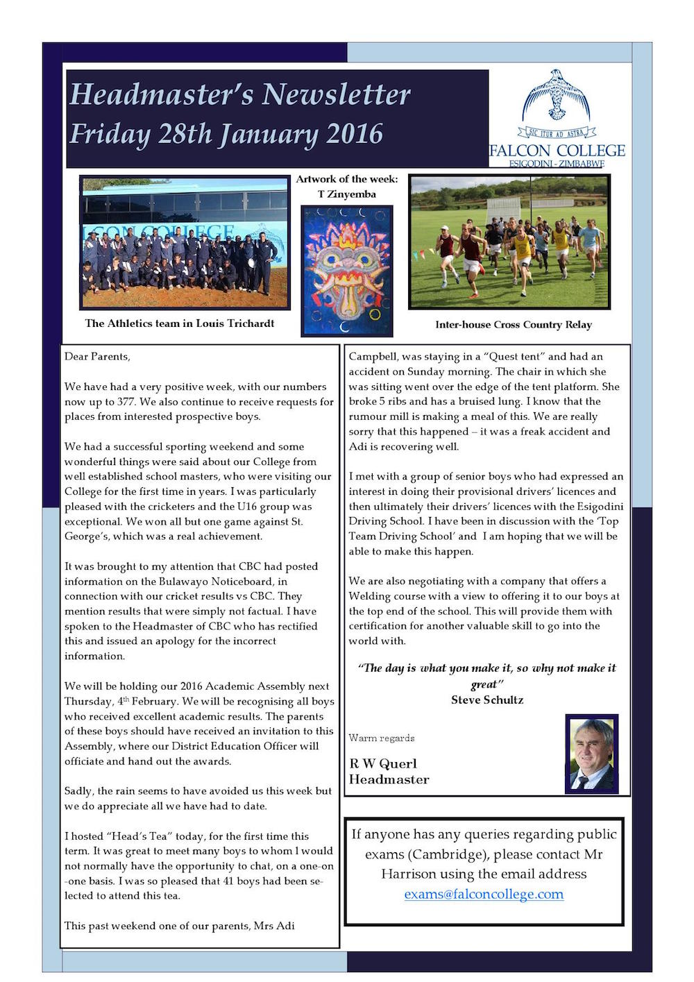 Headmaster's Newsletter Friday 28th January 2016_000001
