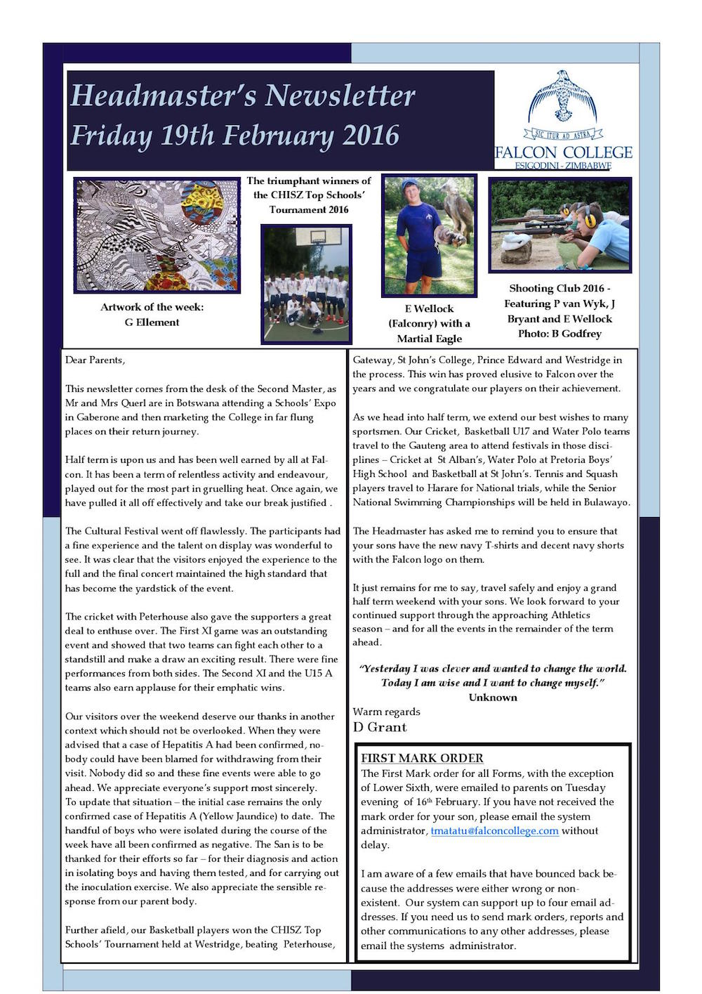 Headmaster's Newsletter Friday 19th February 2016 edited_000001