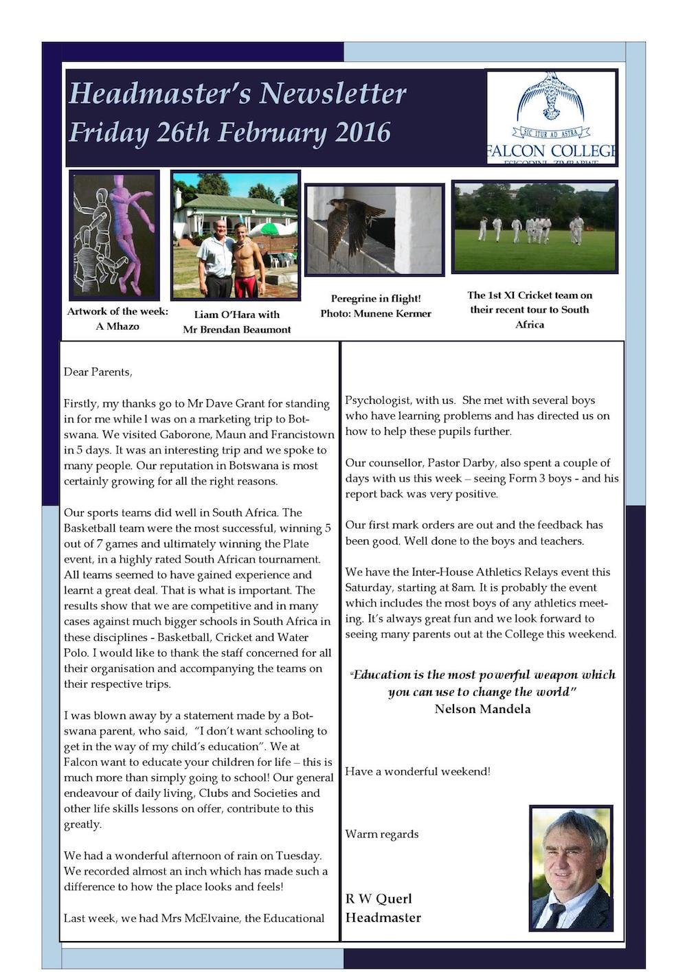 Headmaster's Newsletter Friday 26th February 2016 edited 2_000001