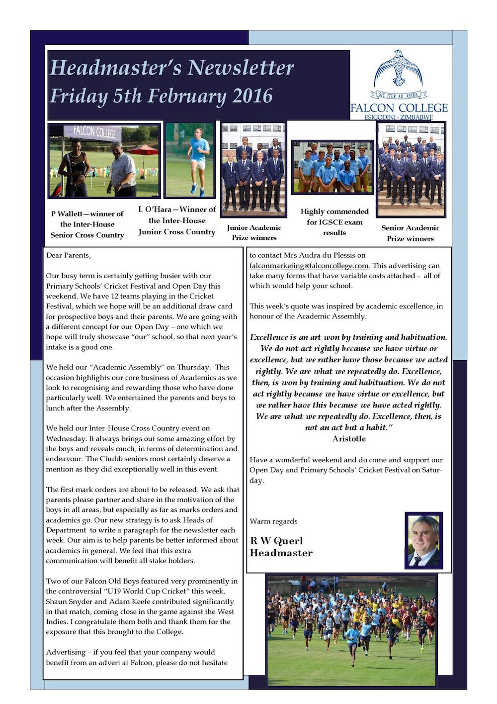 Headmaster's Newsletter Friday 5th February 2016_000001