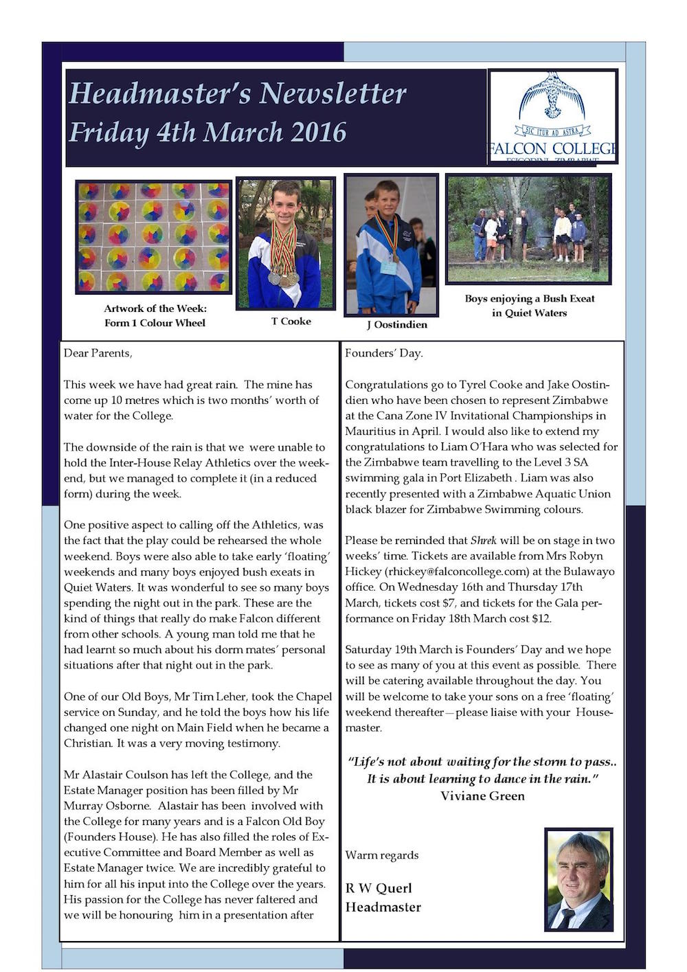 Headmaster's Newsletter Friday 4th March 2016 edited_000001