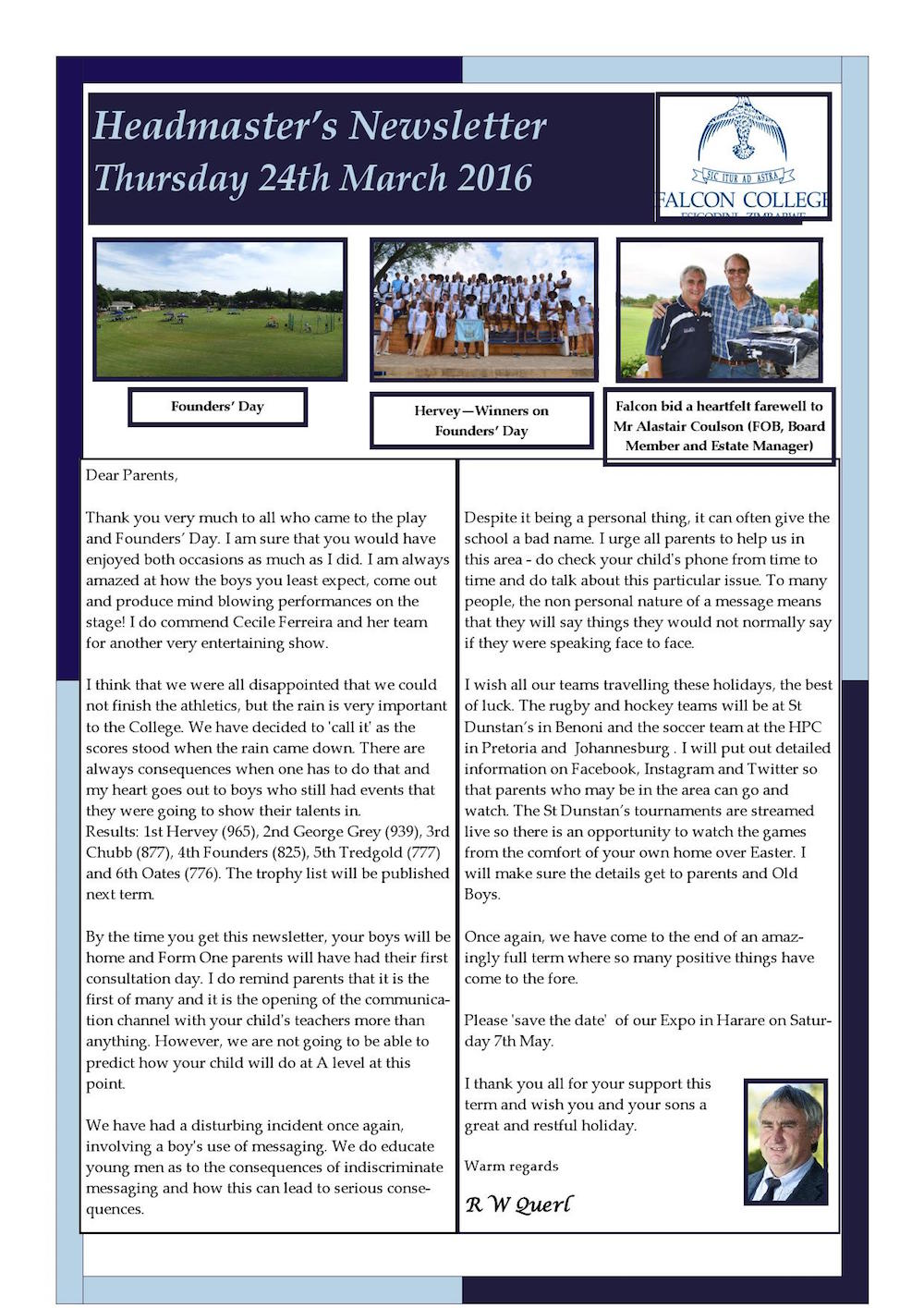 Headmaster's Newsletter Thursday 24th March 2016 edited_000001