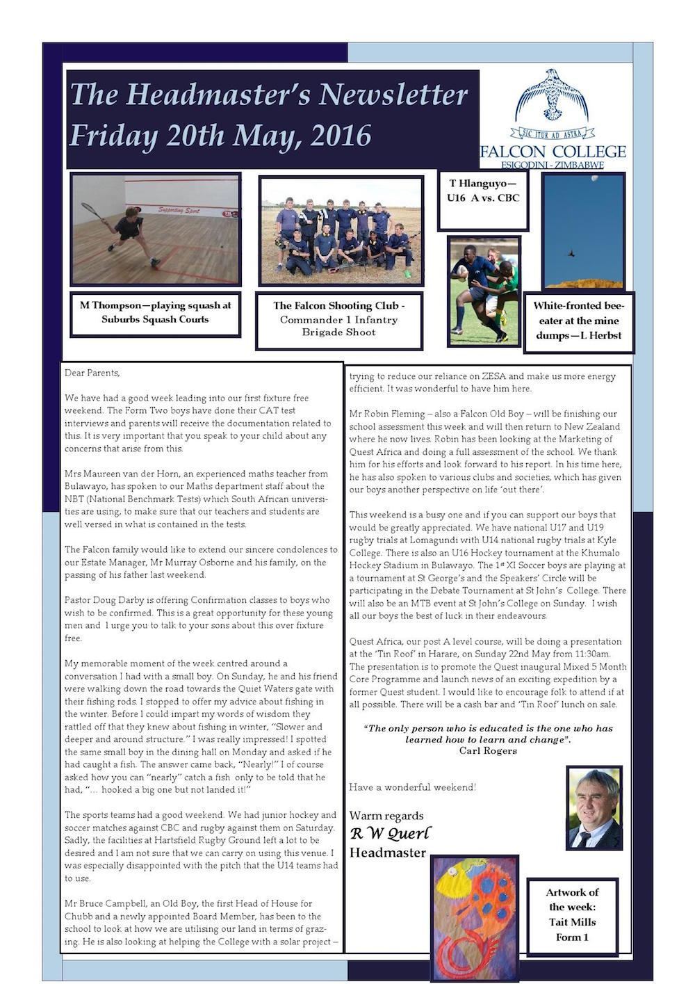 Headmaster's Newsletter Friday 20th May 2016 edited_000001