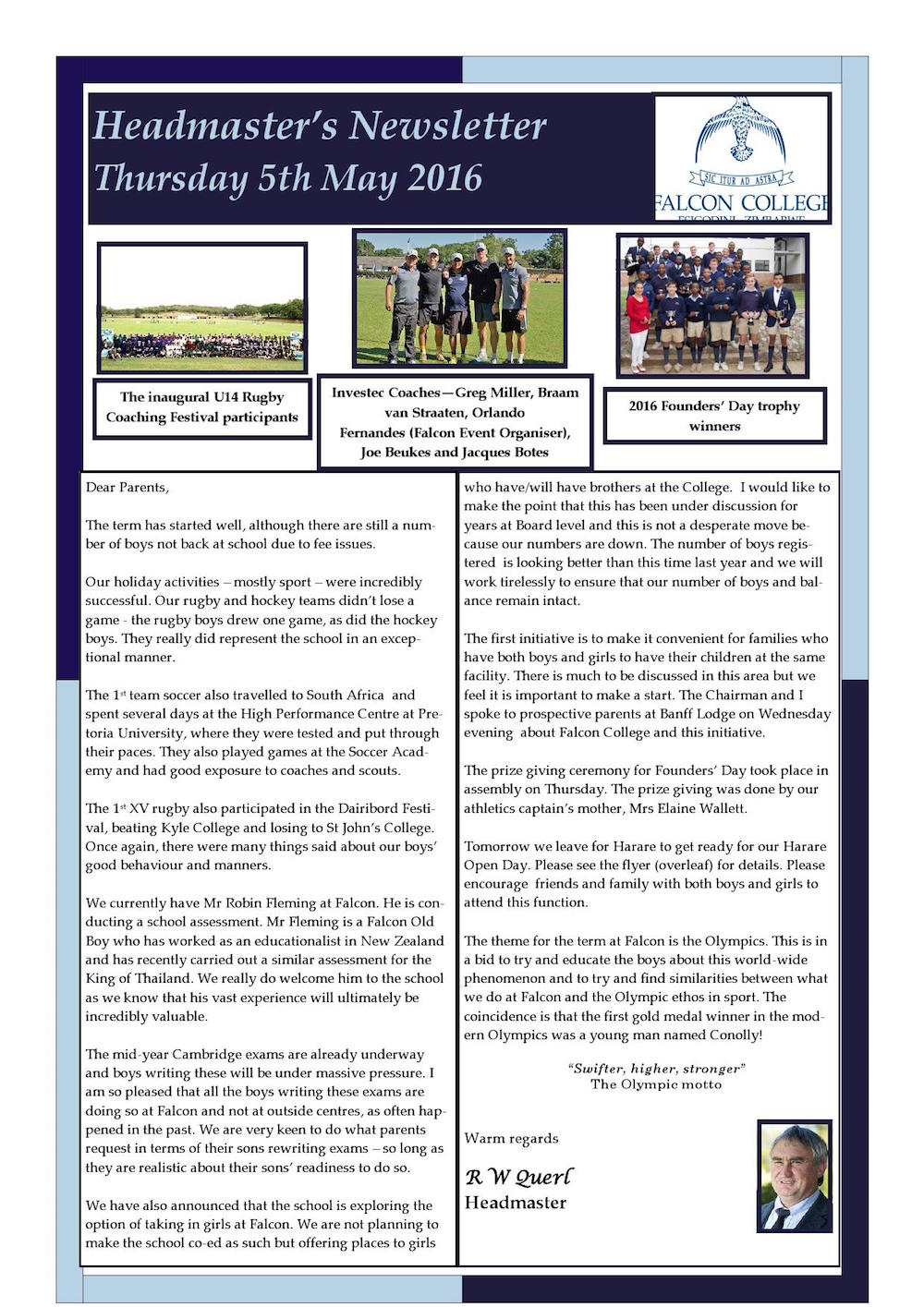 Headmaster's Newsletter Thursday 5th May 2016 edited_000001