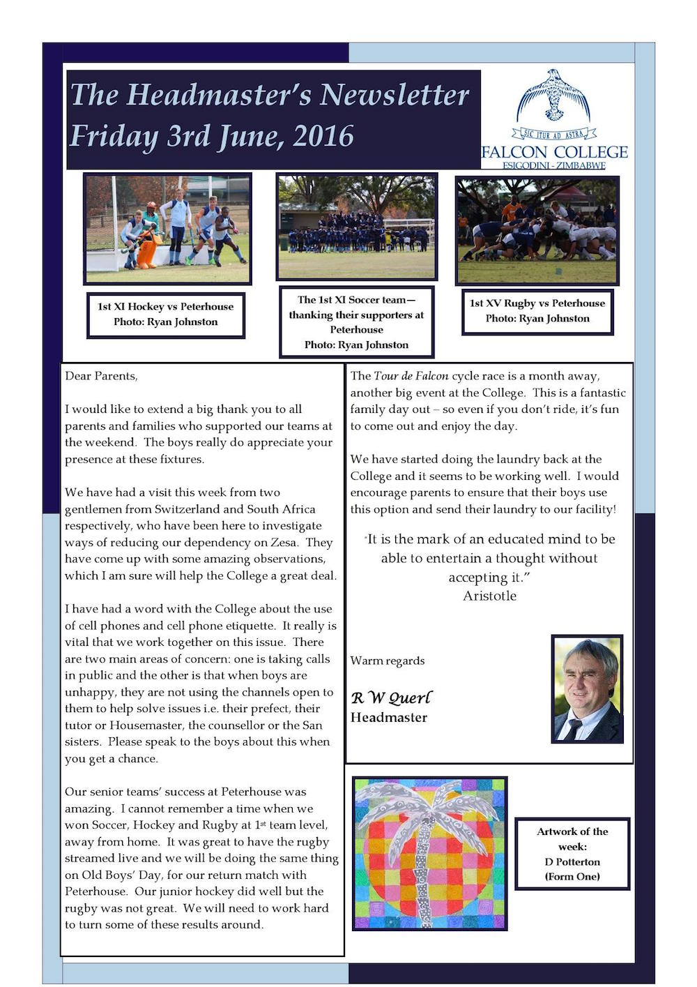 Headmaster's Newsletter Friday 3rd June 2016 edited_000001