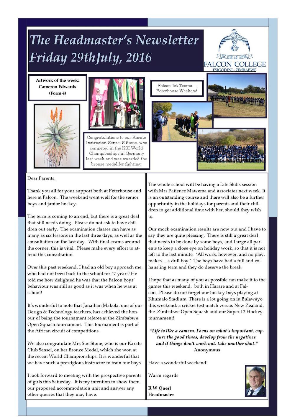Headmaster's Newsletter Friday 29th July 2016 edited_000001
