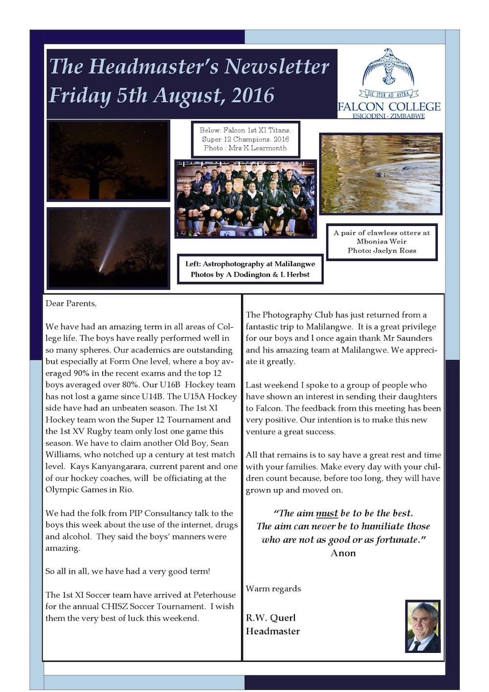 Headmaster's Newsletter Friday 5th August 2016 edited (2)_000001