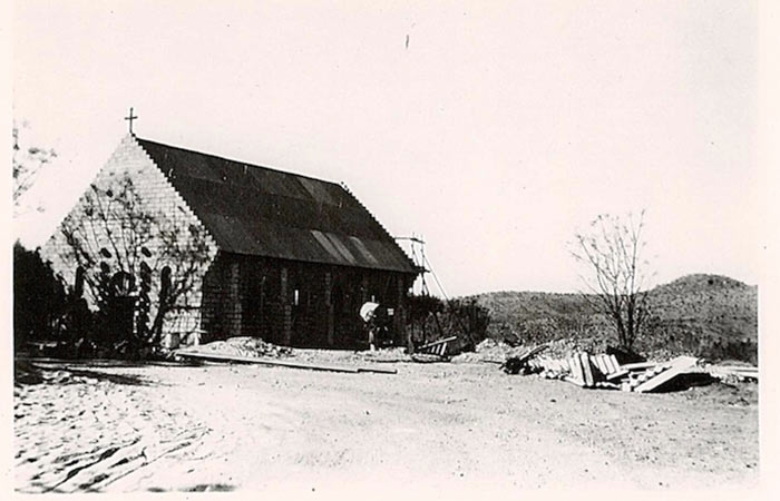 Old Photo - Bulding The Chapel Falcon College